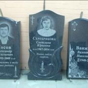 Памятники из темно серого гранита фото