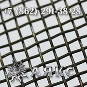 Сетка тканая 8х8х2 стальная металлическая проволочная черная НУ ГОСТ 3826-82 размер 8х8 фото