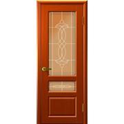 Дверь Валентия-2 Темный анегри остекление Бронза, Фредерика фото