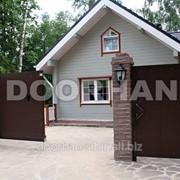 Комплект стандартный №2 сдвижных ворот 4000 х 2100 коричневый RAL8014 фото