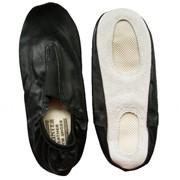 Чешки гимнастические кожанные, цвет черный, р-р 34 фото