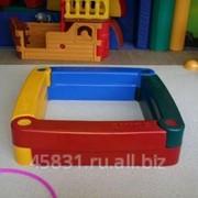Песочница пластиковая разборная из 4- элементов фото