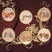 Серьги золотые, серьги с драгоценными камнями, изготовление ювелирных изделий, ремонт и реставрация ювелирных изделий фото