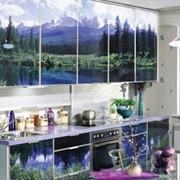 Кухонные гарнитуры с рисунком фото