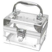Прозрачный акриловый мини-кейс для косметики фото