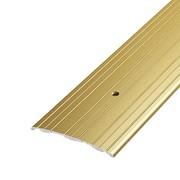 ЛУКА Порог стыкоперекрывающий ПС 07-1800-02 золото (1,8м) 60мм фото