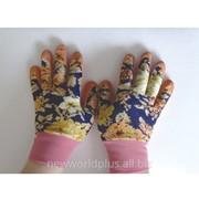 Перчатки для садовых работ Леди FairLady оранжевые, размер M NW-FL-Or фото