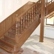 Лестница деревянная модель 5 05.01.2015