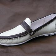 Обувь кожаная повседневная мужская оптом от производителя. Модель:MAKAS-40 фото