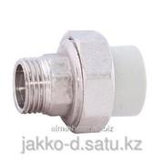 Муфта разъемная ППР ЭКО с нар. рез. серый 32x1 1/4 Jakko фото