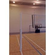 Стойки волейбольные телескопические на стаканах фото
