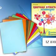 Мелованная цветная бумага, 10 цветов фото