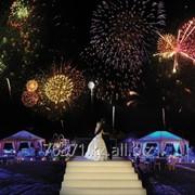Фейерверк на свадьбу фото