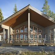 Деревянный финский дом фото