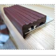 Профиль под плитку с ПВХ-накладкой коричневый фото