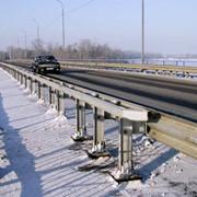Ограждение дорожное и мостовое барьерного типа фото
