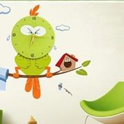 Креативные настенные часы Забавная птичка фото
