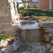 Создание водоемов, прудов, водопадов фото