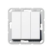 Выключатель Gira коллекция E22, G283003, трехклавишный, белый фото