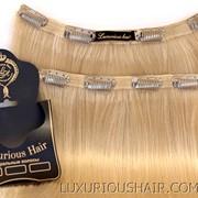 Накладные пряди из натуральных волос на клипсах фото