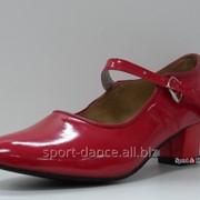 Туфли для народных танцев - Фламенко красный фото