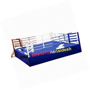 Ринг боксерский на помосте разборный (помост 7,5х7,5м,высота 0,5м,боевая зона 6х6м) 213 фото
