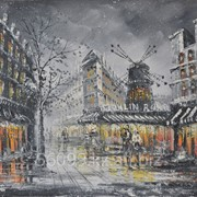 "Картина ""Парижские улочки. Мулен Руж"" 61х91 фото"