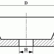 Круги из кубического нитрида бора (КНБ) шлифовальные на органической связке формы 11V9 фото