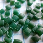 Вторичная гранула ПВД зеленая фото