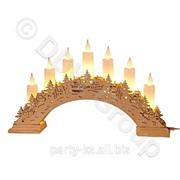 Подсвечник с 7 восковыми свечами фото