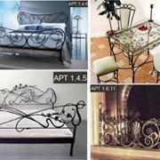 Кованные изделия, кровати, столы, стулья фото