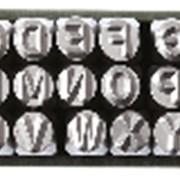 Набор клейм буквенных латиница 7 мм ДТ 378207 фото