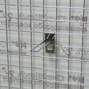 Еврокрючок на сетку L=200мм, хром, FG302 фото