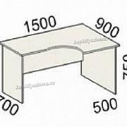 Стол эргономичный правый Оф 41.45 (Итальянский орех) фото