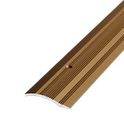 ЛУКА Порог разноуровневый ПР 02-1800-04 бронза (1,8м) 39,4мм перепад 2,2-10мм фото