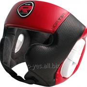 Боксерский шлем RDX Rex Leather Red фото