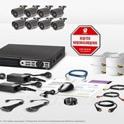 Готовый комплект видеонаблюдения Бизнес 7S фото