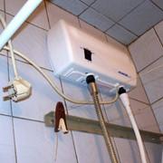 Монтаж электрического проточного водонагрвателя фото