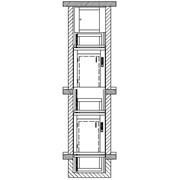 Лифты малые грузовые Распашные двери на уровне пола фото