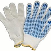 Перчатки рабочие х/б с ПВХ фото