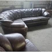 Ремонт кожаных изделий мебели фото