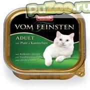 Animonda vom feinsten adult - консервы с индейкой и кроликом анимонда фом файнштейн эдалт для взрослых кошек всех пород фото