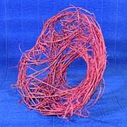 Каркас для букета 25 см ротанг гнездо розовый фото