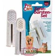 Зубная и массажная щетка 2 шт Trixie фото