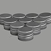 """Алюминиевый колпачок типа """"Винт"""" серебро с резьбой 28х18 (10шт) фото"""