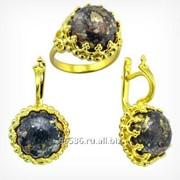 Кольцо и серьги с пирротином Золото 585, арт. 1595 фото