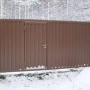 Ворота дворовые распашные КОРН серии ПРОФ фото