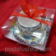 Чашка фарфоровая с блюдцем ACS1020 Цветы 210 мл Yamasen фото