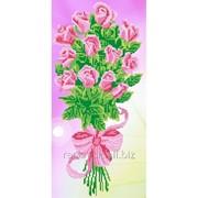 Стразы Розовые розы. Частичная выкладка, 36x64, Leisuretime фото