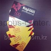 Подарочный сертификат Kapous на косметику номиналом 2000 рублей фото